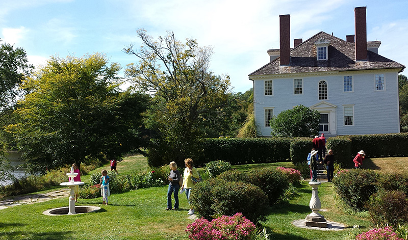 Gardens at Hamilton House in South Berwick, Maine. Taken during September 2015 Arts and Crafts Festival.